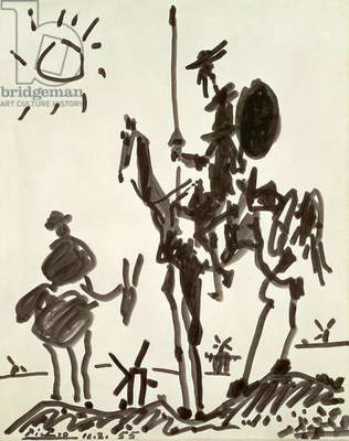 Don Quixote, 1955 (gouache on paper)