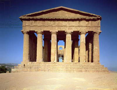 Greek Temple of Concord, converted into the Church of San Gregorio delle Rape by the bishop of Agrigento in the 6th century and restored in the 18th century (photo)