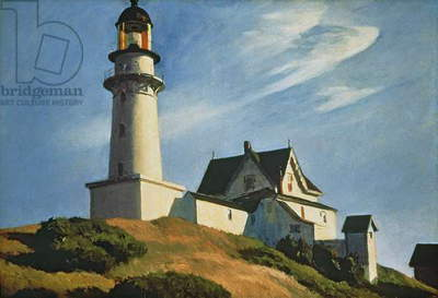 Lighthouse at Two Lights, 1929 (oil on canvas)