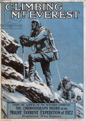 Cover of the programme to the 1922 Everest Expedition Film, 1922 (colour litho)