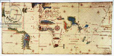 Copy of Monumenta Cartographia, 1502 (colour litho)