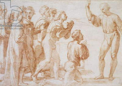Christ's Charge to Peter, c.1514 (chalk on paper)