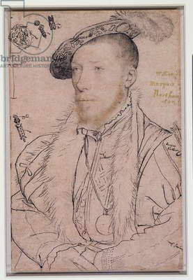 William Parr, 1st Marquess of Northampton, c.1538-40 (pen & ink and chalk on paper)
