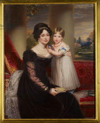 Victoria, Duchess of Kent with Victoria, later Queen Victoria, c.1824 (enamel on copper)