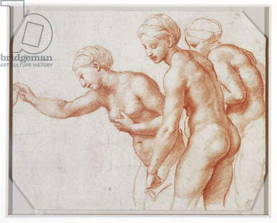 The Three Graces, c.1517-18 (red chalk)