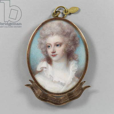 Princess Charlotte, Princess Royal, c.1790 (w/c on ivory)