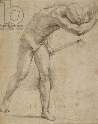 Figure with an axe, c.1512 (chalk on paper)