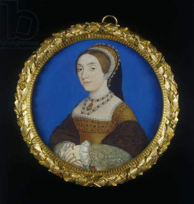 Portrait of a Lady, c.1540 (w/c & bodycolour on vellum)
