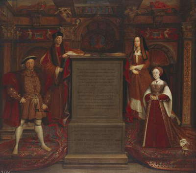 Henry VII, Elizabeth of York, Henry VIII and Jane Seymour, 1537 (oil on canvas)