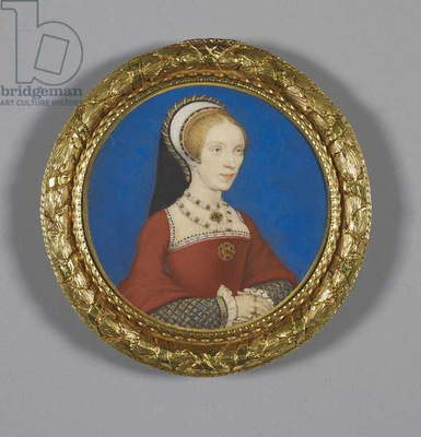 Elizabeth, Lady Audley, c.1538 (w/c on vellum laid down on playing card)