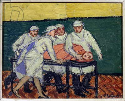 The Theatre Trolley, 1959 (oil on canvas)