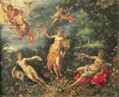 Abundance and the Four Elements, c.1606 (oil on copper)