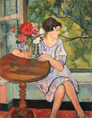 Young Girl in Front of a Window, 1930 (oil on canvas)