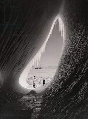Grotto in an iceberg, January 1911 (b/w photo)
