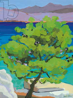Pine Tree, 2010 (gouache on paper)