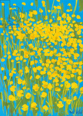 Buttercups, 2009 (gouache on paper)