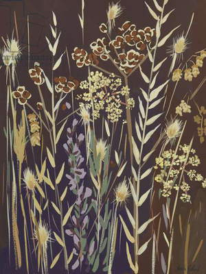 Grasses, 2014, (gouache on paper)