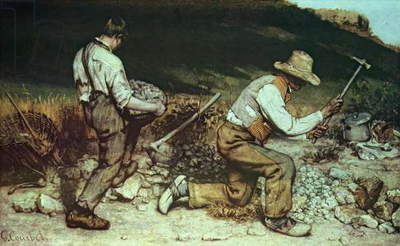 The Stone Breakers, 1849 (oil on canvas) (destroyed in 1945)