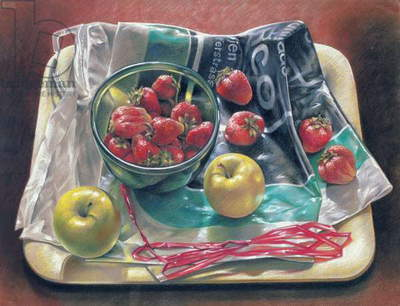 Strawberries, 1979 (pastel on paper)
