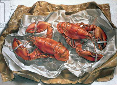 Lobsters, 1981 (pastel on paper)