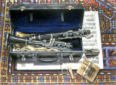 Still Life with Clarinet, 1980 (pastel on paper)