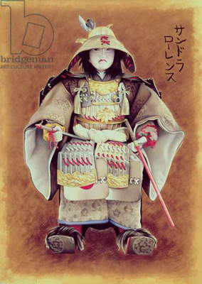 Samuraiess Doll, 1997 (gouache on paper)