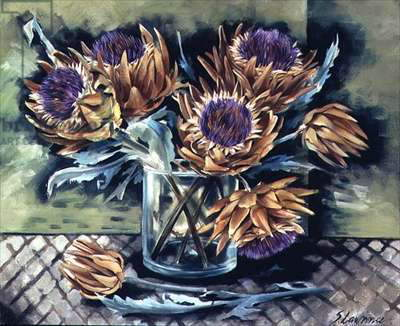 Artichokes, 1994 (oil on canvas)