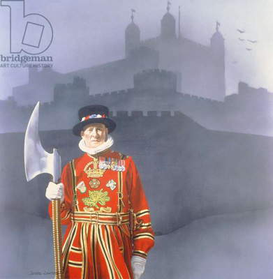 The Yeoman Gaoler, 1977 (acrylic on canvas)