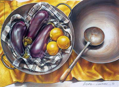 The Wok, 1980 (pastel on paper)