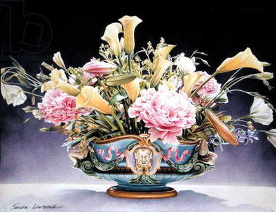 The Minton Jardiniere, 1993 (gouache on paper)