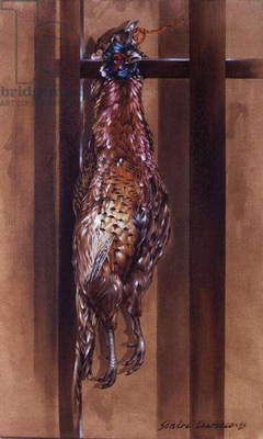 Hanging Pheasant I, 1985 (oil on canvas)