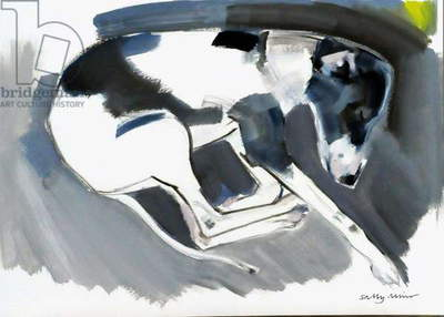 Lily Asleep, 2008 (oil on paper)