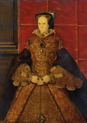 Queen Mary I, 1554 (oil on oak)