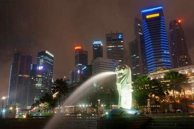 The Merlion Statue, Singapore (photo)
