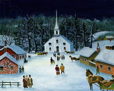 Winter Nocturne, 1994 (oil on canvas)