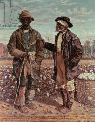 Two Elderly Cotton Pickers, 1888 (oil on canvas)