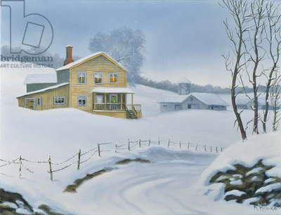 Winter in Maine (oil on canvas)