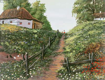 The Path Home (oil on canvas)