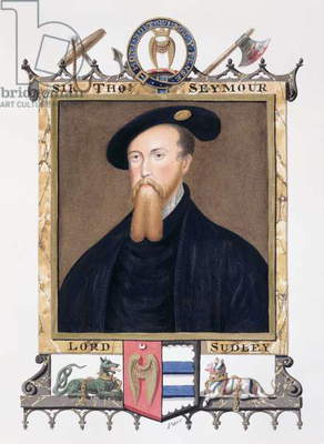 Portrait of Thomas Seymour (1508-49) 1st Baron of Sudeley from 'Memoirs of the court of Queen Elizabeth', published in 1825 (w/c and gouache on paper)