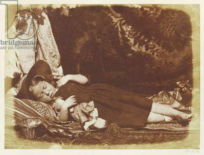 The Bedfellows, c.1843-47 (salted paper print from calotype negative)