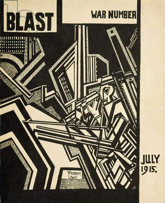 War Number, front cover of an issue of 'Blast' magazine, manifesto of the Vorticist movement, 1915 (litho)