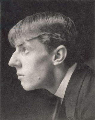 Portrait of Aubrey Beardsley (1872-98) by Frederick Evans (1853-1943) (sepia photo)
