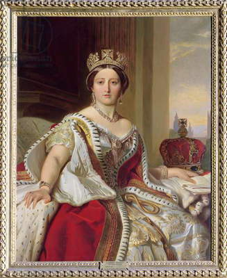 Portrait of Queen Victoria (1819-1901) 1859 (oil on canvas)