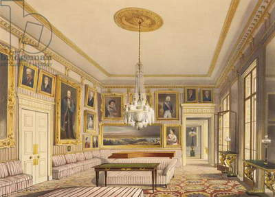 The Striped Drawing Room, Apsley House, 1853 (print)