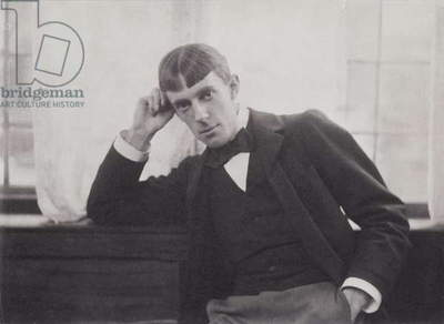 Portrait photograph of Aubrey Beardsley (1872-98) by Frederick Evans (1853-1943) (b/w photo)