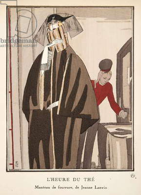 L'Heure du Thé, from a Collection of Fashion Plates, 1920 (pochoir print)