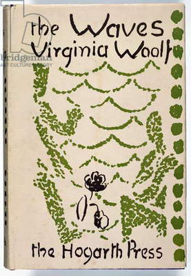 Cover of First Edition of 'The Waves' by Virginia Woolf (1882-1941) published by the Hogarth Press, London, 1931 (colour litho)