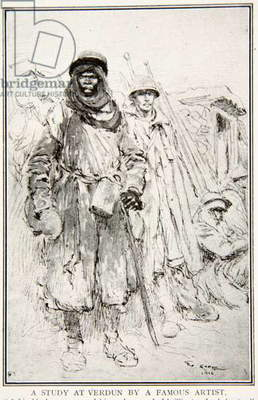 A Study at Verdun by a Famous Artist, 1916 (litho)
