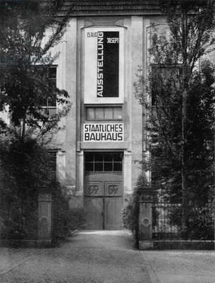The Belvedere Entrance to the Bauhaus, Weimar, 1923 (b/w photo)