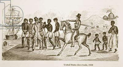 United States Slave Trade, 1830 (engraving)